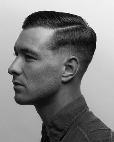 Dapper Side Comb with Layered Fade and Part