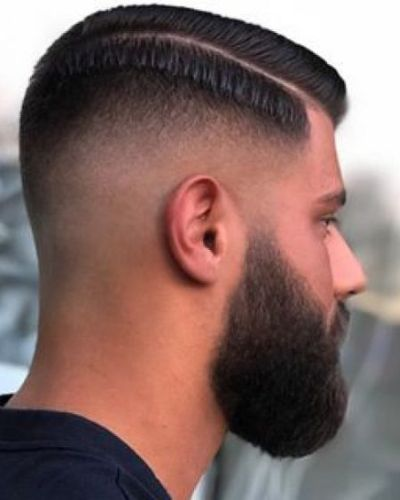 Hard Part Fade and Round Beard