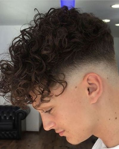 Forward Swept Curls with Zero Fade