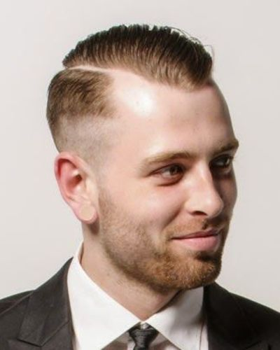 Dapper Faded Hard Part for thin Hair
