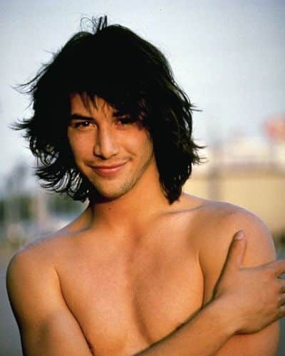 Keanu Reeves Messy Hair
