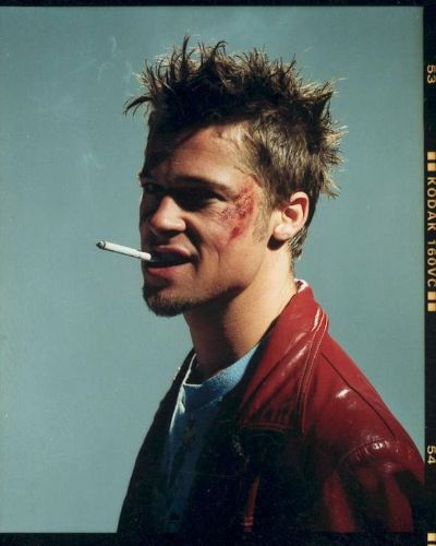 Brad Pitt Fight Club Look