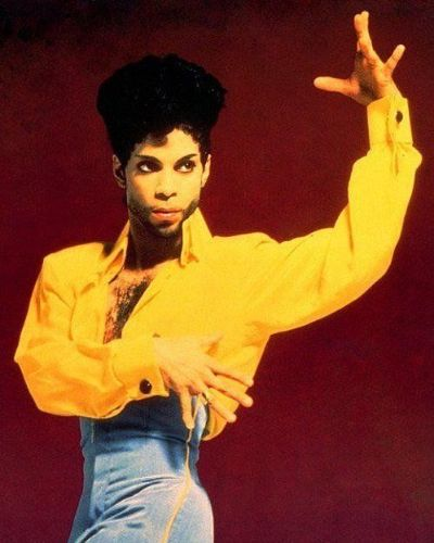 Prince with his Impeccable Shape Up