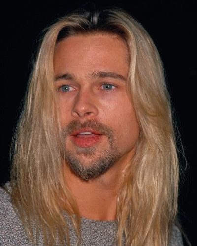 Brad Pitt Long Grunge Look Dyed Blonde