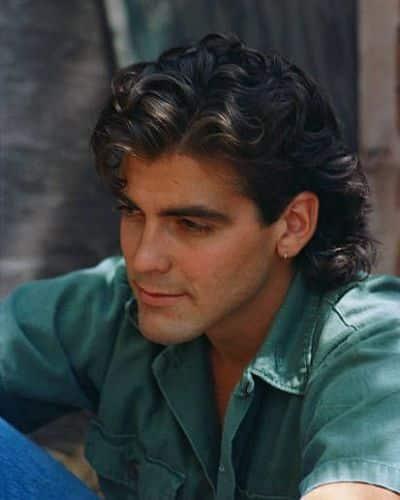 George Clooneys Wavy Half-Mullet
