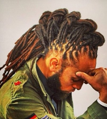 Twisted Mohawk Dreads