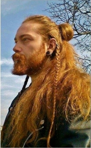 fiery braids traditional viking hairstyles
