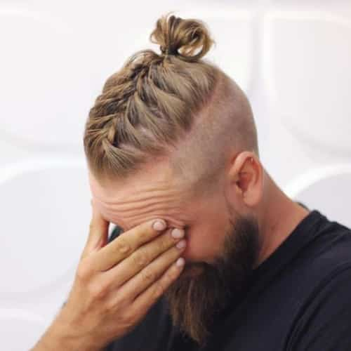 french bun under shave viking hairstyles