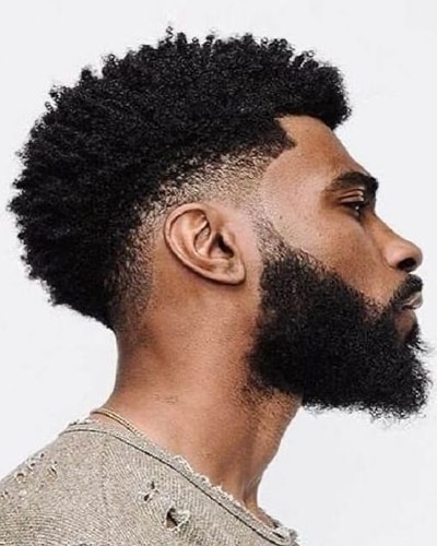 Afro Hairstyles with Beards