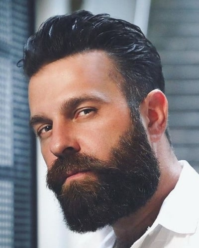 Comb Over Hairstyles with Beard