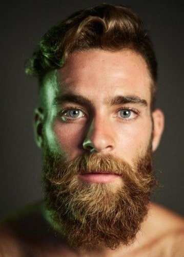Curly-Wavy Hair with Imperial Beard
