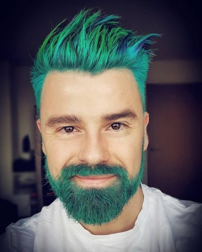 Dyed and Colored Hair and Facial Hair Styles
