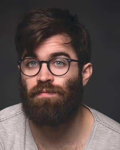 Hairstyles for Men with Beards and Bangs