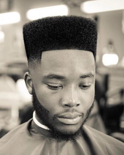 High Top Fade Haircuts with Faded Facial Hair