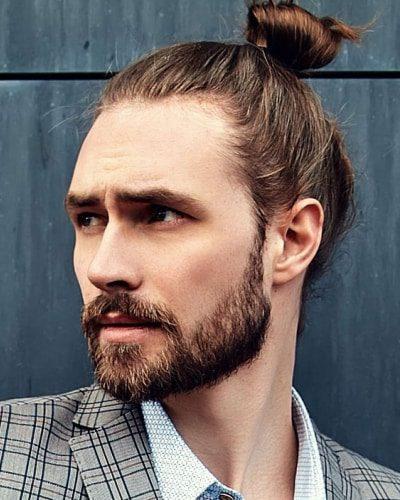 Man Bun with Short Beard