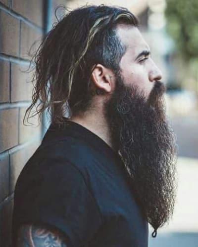 Mid-Length Hair with Undercut and Long Beard