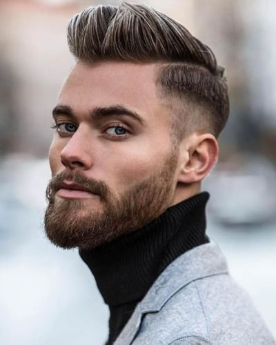 Modern Side Part Quiff Hairstyles for Men