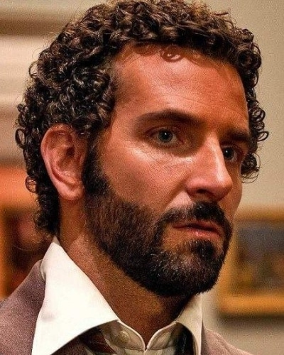 Short Curly Hair with Straight Beard