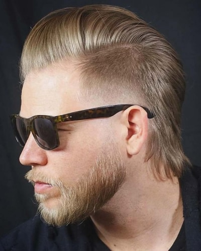 Short Modern Mullet Haircut with Facial Hair