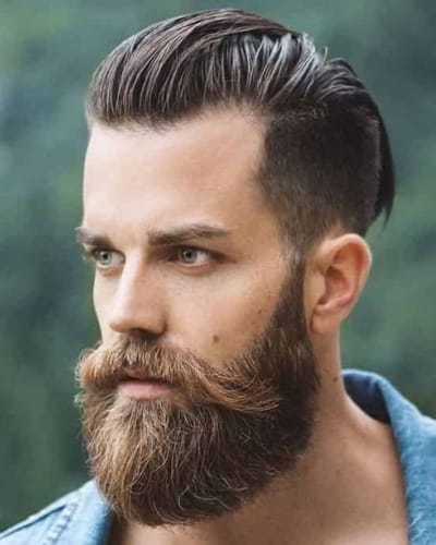 Short Sides Long Top Hairstyles with Beard