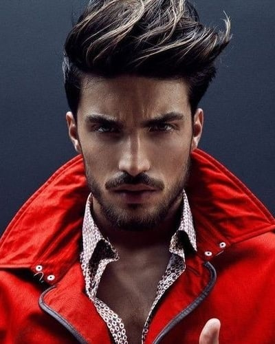 Spiked Up Hairstyles with Facial Hair
